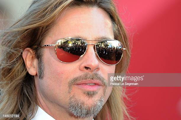Actor Brad Pitt attends the 'Killing Them Softly' Premiere during 65th Annual Cannes Film Festival at Palais des Festivals on May 22 2012 in Cannes...