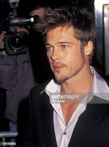 Actor Brad Pitt attends the 'Meet Joe Black' New York City Premiere on November 2 1998 at the Ziegfeld Theater in New York City