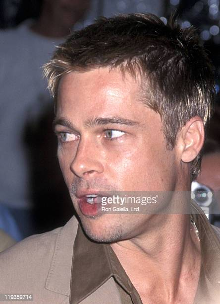 Actor Brad Pitt attends The Mexican Westwood Premiere on February 23 2001 at Mann National Theatre in Westwood California