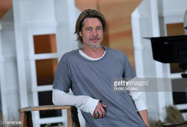 """Actor Brad Pitt attends the photo call for Sony Pictures' """"Once Upon a Time in Hollywood"""" at the Four Seasons hotel on July 11, 2019 in Los Angeles."""