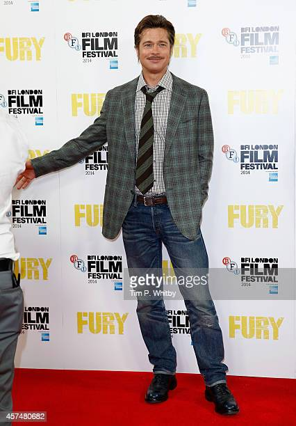 Actor Brad Pitt attends the photocall for Fury during the 58th BFI London Film Festival at The Corinthia Hotel on October 19 2014 in London England