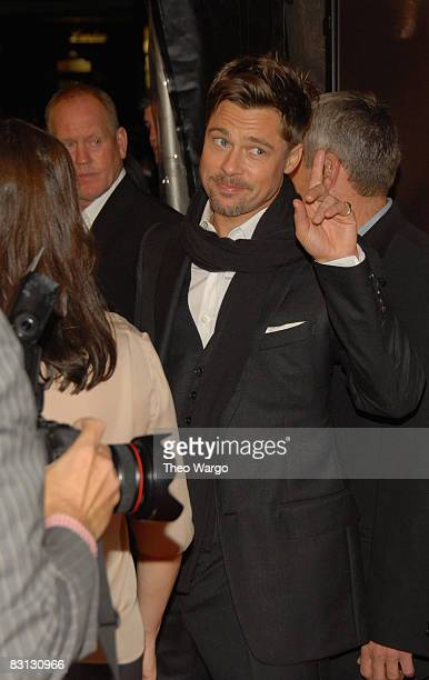 Actor Brad Pitt attends the premiere of Changeling during the 46th New York Film Festival at the Ziegfeld Theater on October 4 2008 in New York City