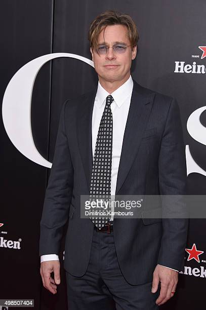 Actor Brad Pitt attends the premiere of The Big Short at Ziegfeld Theatre on November 23 2015 in New York City