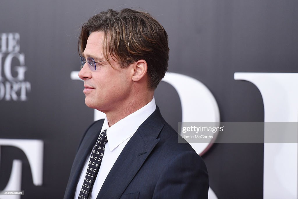 Actor Brad Pitt attends the premiere of 'The Big Short' at Ziegfeld Theatre on November 23, 2015 in New York City.