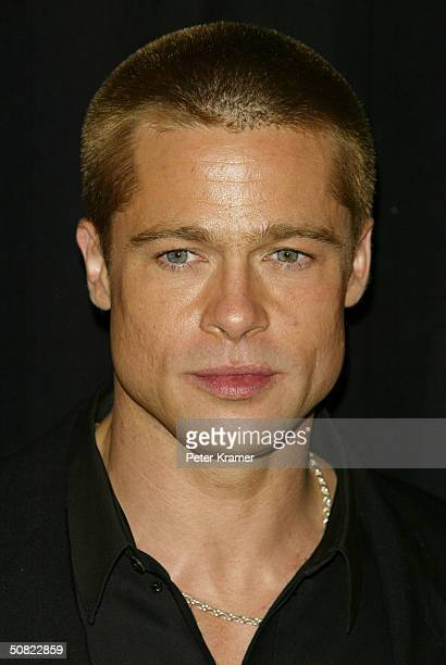 Actor Brad Pitt attends the premiere of 'Troy' on May 10 2004 in New York City