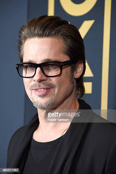 Actor Brad Pitt attends the premiere of Universal Studios' Unbroken at TCL Chinese Theatre on December 15 2014 in Hollywood California