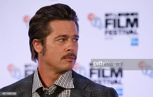 Actor Brad Pitt attends the press conference for Fury during the 58th BFI London Film Festival at The Corinthia Hotel on October 19 2014 in London...