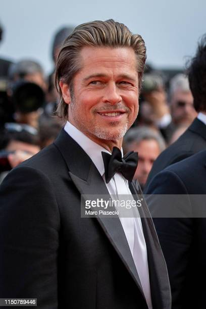"Actor Brad Pitt attends the screening of ""Once Upon A Time In Hollywood"" during the 72nd annual Cannes Film Festival on May 21, 2019 in Cannes,..."