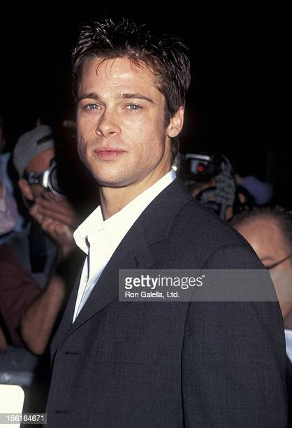 Actor Brad Pitt attends the 'Seven' New York City Premiere on September 15, 1996 at Alice Tully Hall, Lincoln Center in New York City.