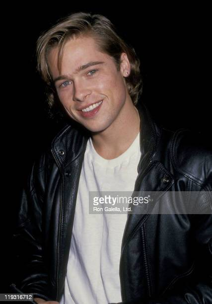 Actor Brad Pitt attends the Seventh Annual Jimmy Stewart Relay Marathon KickOff Cocktail Reception on January 14 1988 at Beverly Wilshire Hotel in...