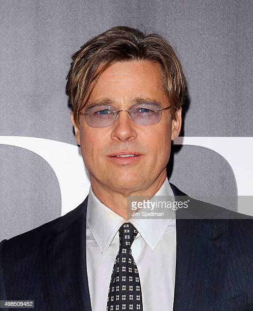 """Actor Brad Pitt attends the """"The Big Short"""" New York premiere at Ziegfeld Theater on November 23, 2015 in New York City."""