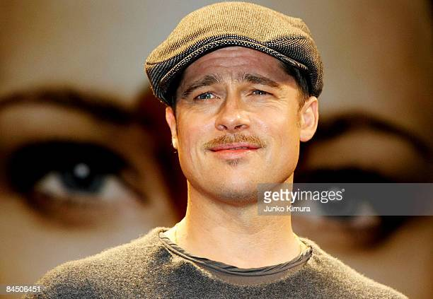 Actor Brad Pitt attends the The Curious Case of Benjamin Button press conference at Grand Hyatt Tokyo on January 28 2009 in Tokyo Japan