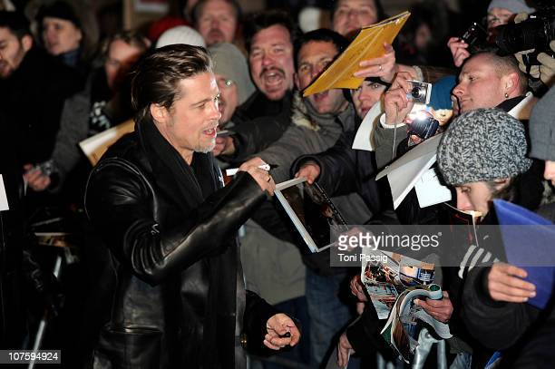 Actor Brad Pitt attends the 'The Tourist' European Premiere at CineStar on December 14, 2010 in Berlin, Germany.