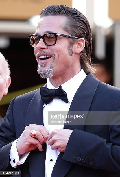 Actor Brad Pitt attends The Tree Of Life premiere during the 64th Annual Cannes Film Festival at Palais des Festivals on May 16 2011 in Cannes France