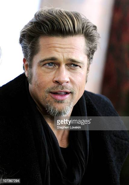 Actor Brad Pitt attends the World premiere of The Tourist at Ziegfeld Theatre on December 6 2010 in New York City