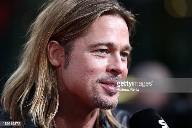 Actor Brad Pitt attends 'WORLD WAR Z' Germany Premiere at Sony Centre on June 4 2013 in Berlin Germany