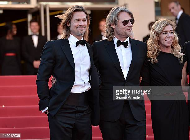 Actor Brad Pitt director Andrew Dominik and actress Dede Gardner attend the Killing Them Softly Premiere during the 65th Annual Cannes Film Festival...