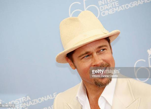 Actor Brad Pitt during the 'Burn After Reading' Photocall part of the 65th Venice Film Festival at Palazzo del Casino on August 27 2008 in Venice...