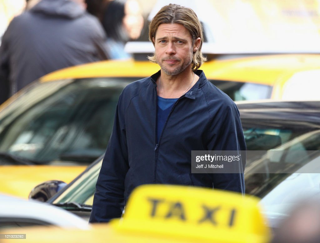 Filming Continues On World War Z Starring Brad Pitt In Glasgow : News Photo