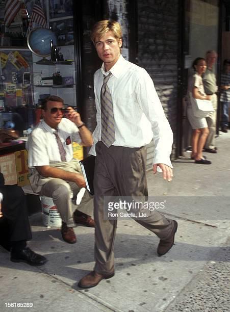 Actor Brad Pitt films 'Meet Joe Black' on June 11 1997 in New York City