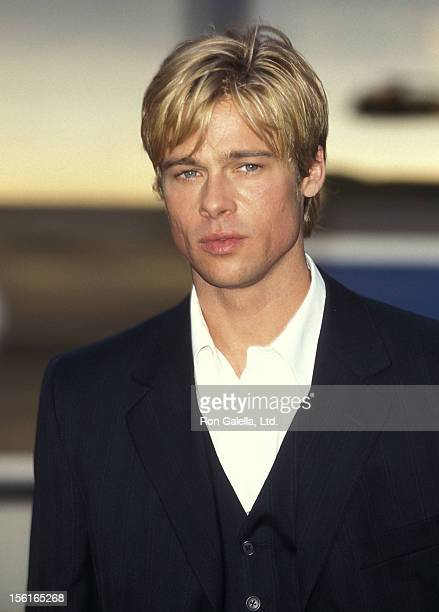 Actor Brad Pitt films 'Meet Joe Black' on June 19 1997 at 86th Street and Amsterdam in New York City