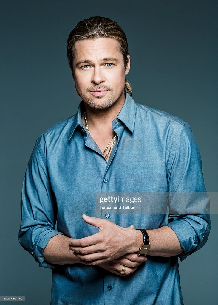 Actor Brad Pitt is photographed for USA Weekend on May 14, 2013 in Los Angeles, California.