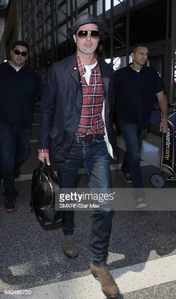 Actor Brad Pitt is seen on June 15 2016 in Los Angeles California