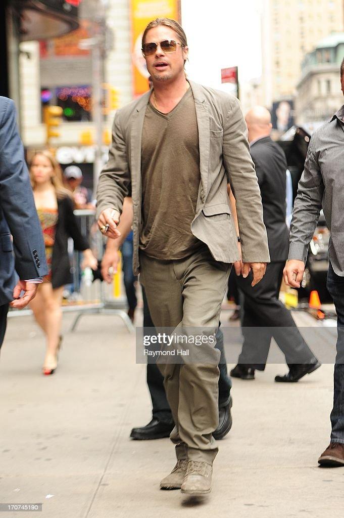 Brad Pitt Sighting In New York City - June 17, 2013 : News Photo
