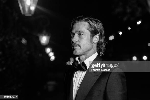 Actor Brad Pitt poses for a portrait on August 28, 2019 in Venice, Italy.