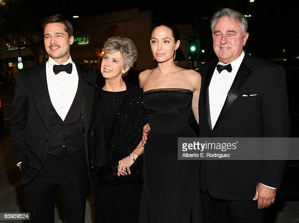 Actor Brad Pitt with his parents and Angelina Jolie arrive at the premiere of Paramount's The Curious Case Of Benjamin Button held at Mann's Village...