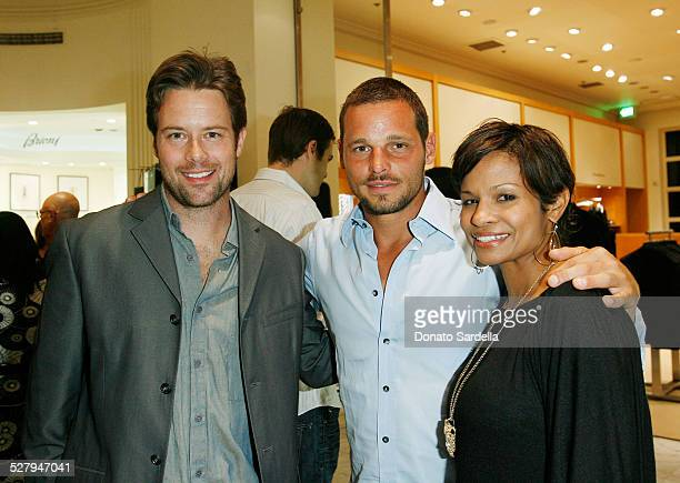 Actor Brad Rowe actor Justin Chambers and Keisha Chambers attend the Kickoff Shopping Party in support of the 7th Annual Chrysalis Butterfly Ball on...