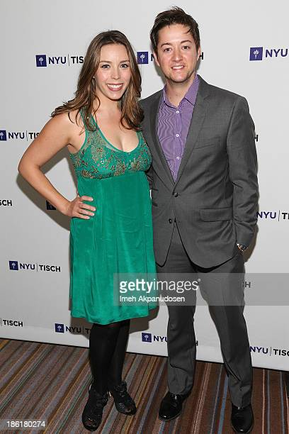 Actor Bradford Anderson and Kiera Mickiewicz attend NYU's Tisch School Of The Arts' West Coast Benefit Gala at Regent Beverly Wilshire Hotel on...