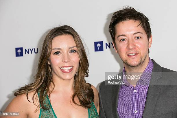 Actor Bradford Anderson and Kiera Mickiewicz attend NYU's Tisch School Of the Arts LA Gala at Regent Beverly Wilshire Hotel on October 28 2013 in...