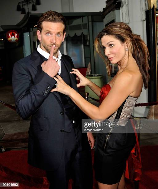 Actor Bradley Cooper and actress Sandra Bullock arrive at the premiere of Twentieth Century Fox's 'All About Steve' held at Mann's Chinese Theater on...