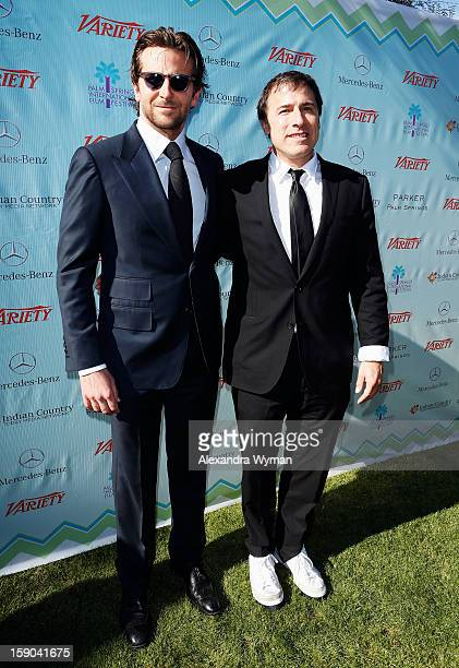 Actor Bradley Cooper and director David O Russell attend Variety's 10 Directors To Watch brunch at Parker Palm Springs on January 6 2013 in Palm...