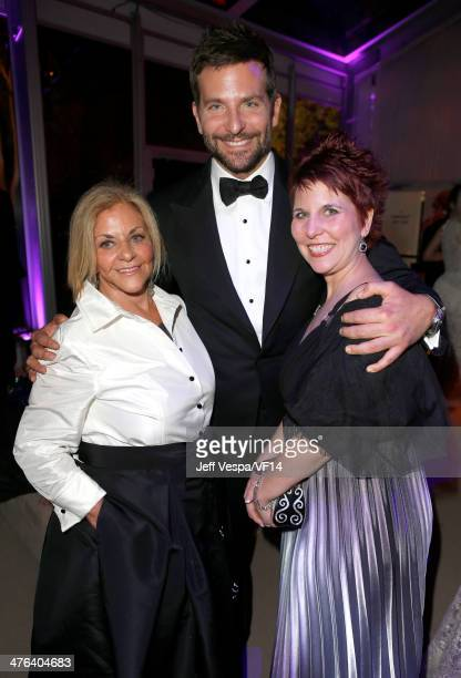 Actor Bradley Cooper and Gloria Campano attend the 2014 Vanity Fair Oscar Party Hosted By Graydon Carter on March 2 2014 in West Hollywood California