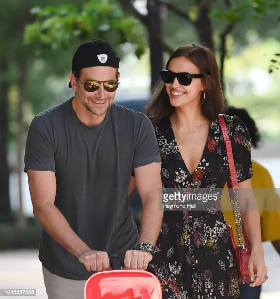 Actor Bradley Cooper and Irina Shayk are seen walking in soho on October 4 2018 in New York City