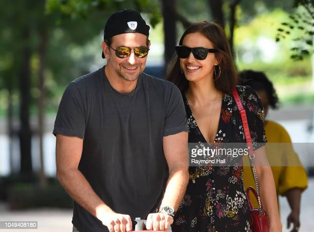 Actor Bradley Cooper and Irina Shayk are seen walking in soho on October 4 2018 in New York City