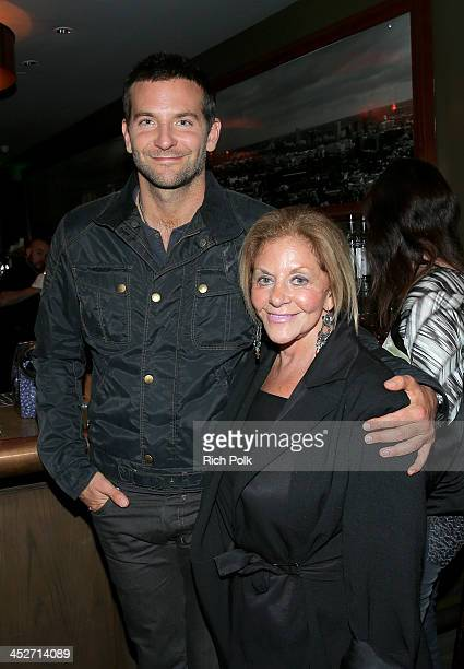 Actor Bradley Cooper and mother Gloria Campano attend PANDORA Jewelry and Moto X present 'American Hustle' at cinema prive at on November 30 2013 in...