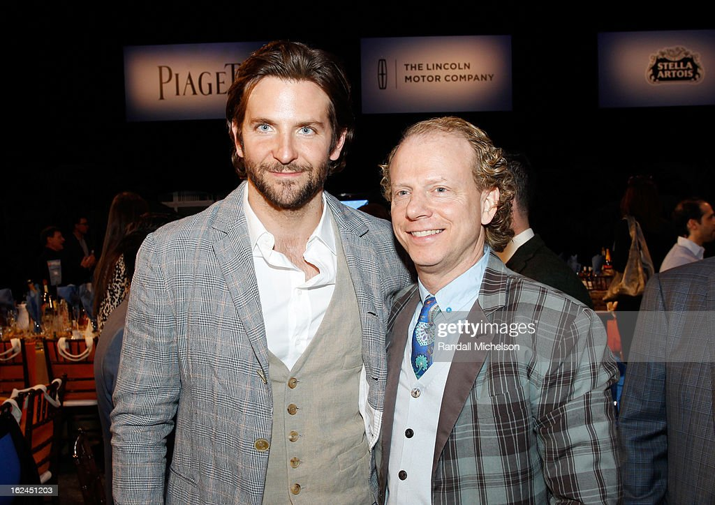 Actor Bradley Cooper (L) and producer Bruce Cohen attend the 2013 Film Independent Spirit Awards at Santa Monica Beach on February 23, 2013 in Santa Monica, California.
