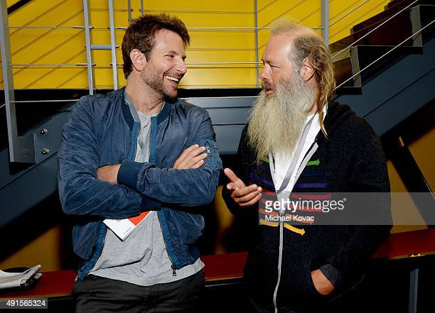 Actor Bradley Cooper and producer Rick Rubin attend the Vanity Fair New Establishment Summit at Yerba Buena Center for the Arts on October 6 2015 in...