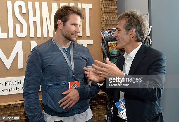 Actor Bradley Cooper and Sony Entertainment CEO Michael Lynton attend the Vanity Fair New Establishment Summit at Yerba Buena Center for the Arts on...