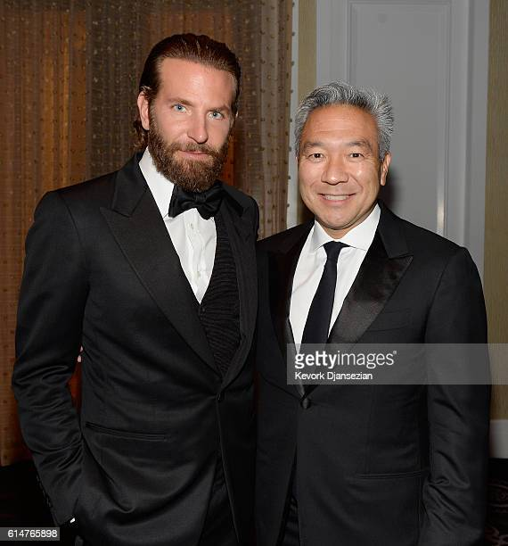 Actor Bradley Cooper and Warner Bros Entertainment Chairman/CEO Kevin Tsujihara attend the 30th Annual American Cinematheque Awards Gala at The...