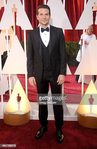 Actor Bradley Cooper arrives at the 87th Annual Academy Awards at Hollywood Highland Center on February 22 2015 in Hollywood California