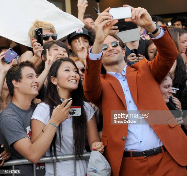 Actor Bradley Cooper arrives at the Los Angeles premiere of 'The Hangover III' at Mann's Village Theatre on May 20 2013 in Westwood California