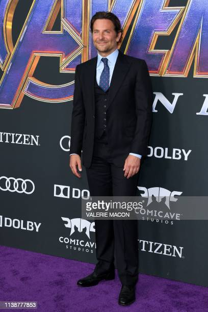 US actor Bradley Cooper arrives for the World premiere of Marvel Studios' Avengers Endgame at the Los Angeles Convention Center on April 22 2019 in...