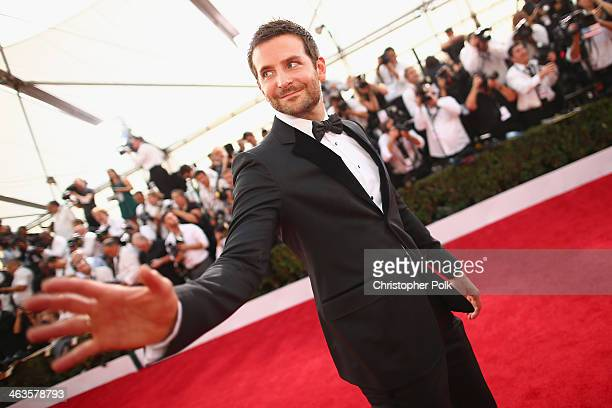 Actor Bradley Cooper attends 20th Annual Screen Actors Guild Awards at The Shrine Auditorium on January 18 2014 in Los Angeles California