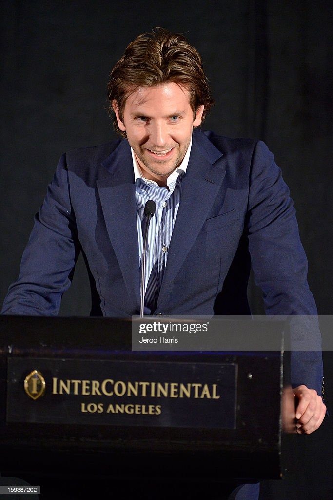 Actor Bradley Cooper attends the 38th Annual Los Angeles Film Critics Association Awards - Show at InterContinental Hotel on January 12, 2013 in Century City, California.