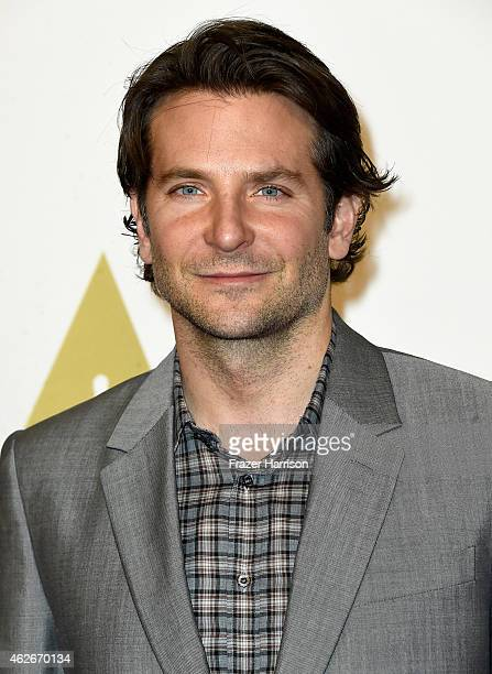 Actor Bradley Cooper attends the 87th Annual Academy Awards Nominee Luncheon at The Beverly Hilton Hotel on February 2 2015 in Beverly Hills...