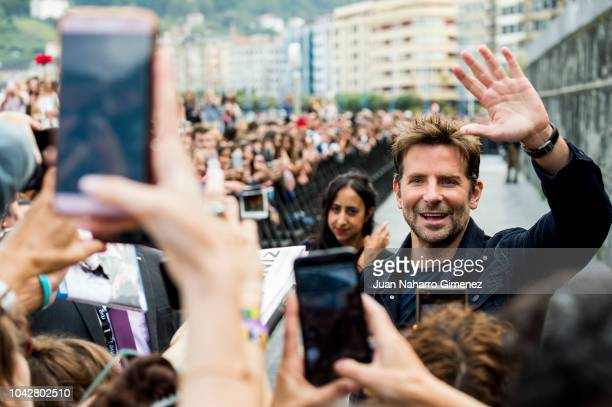 Actor Bradley Cooper attends the 'A Star Is Born' photocall during the 66th San Sebastian International Film Festival on September 29, 2018 in San...